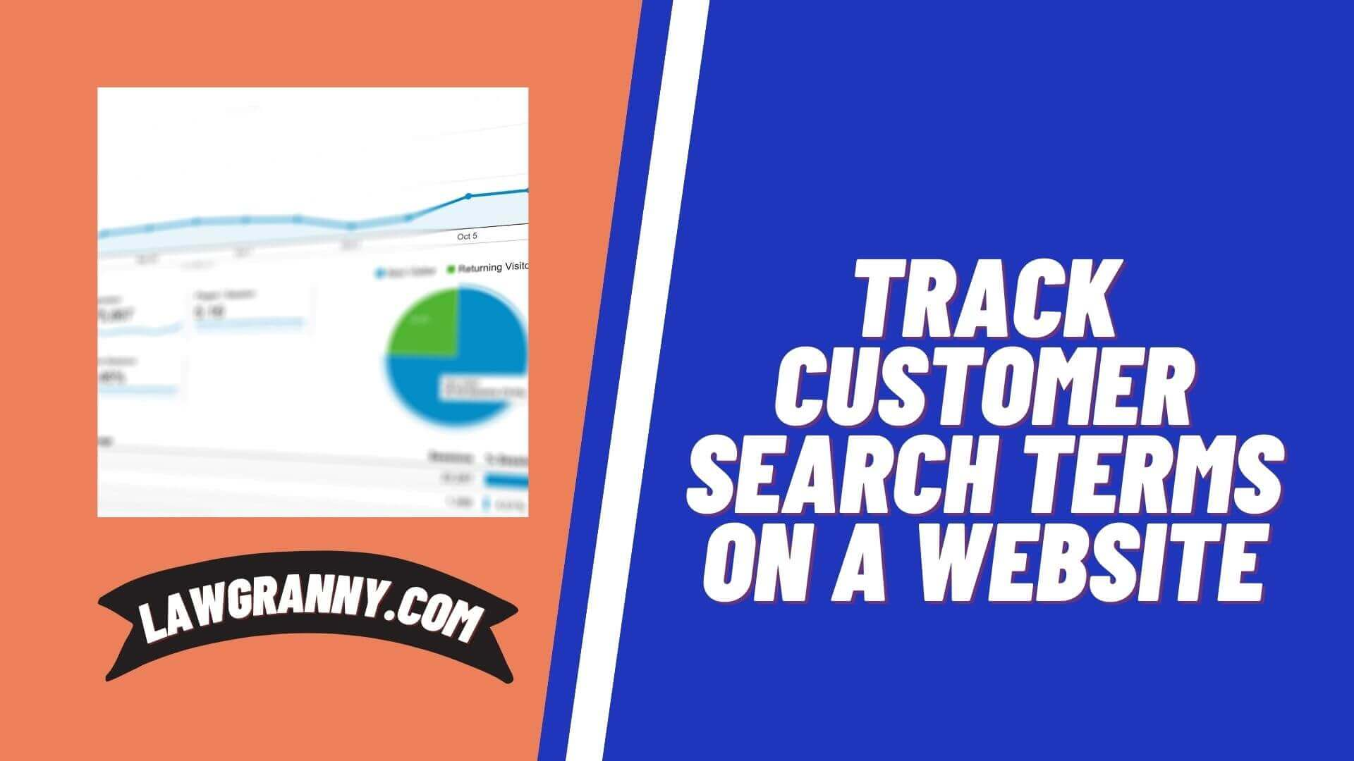 Track Customer Search Terms on a Website