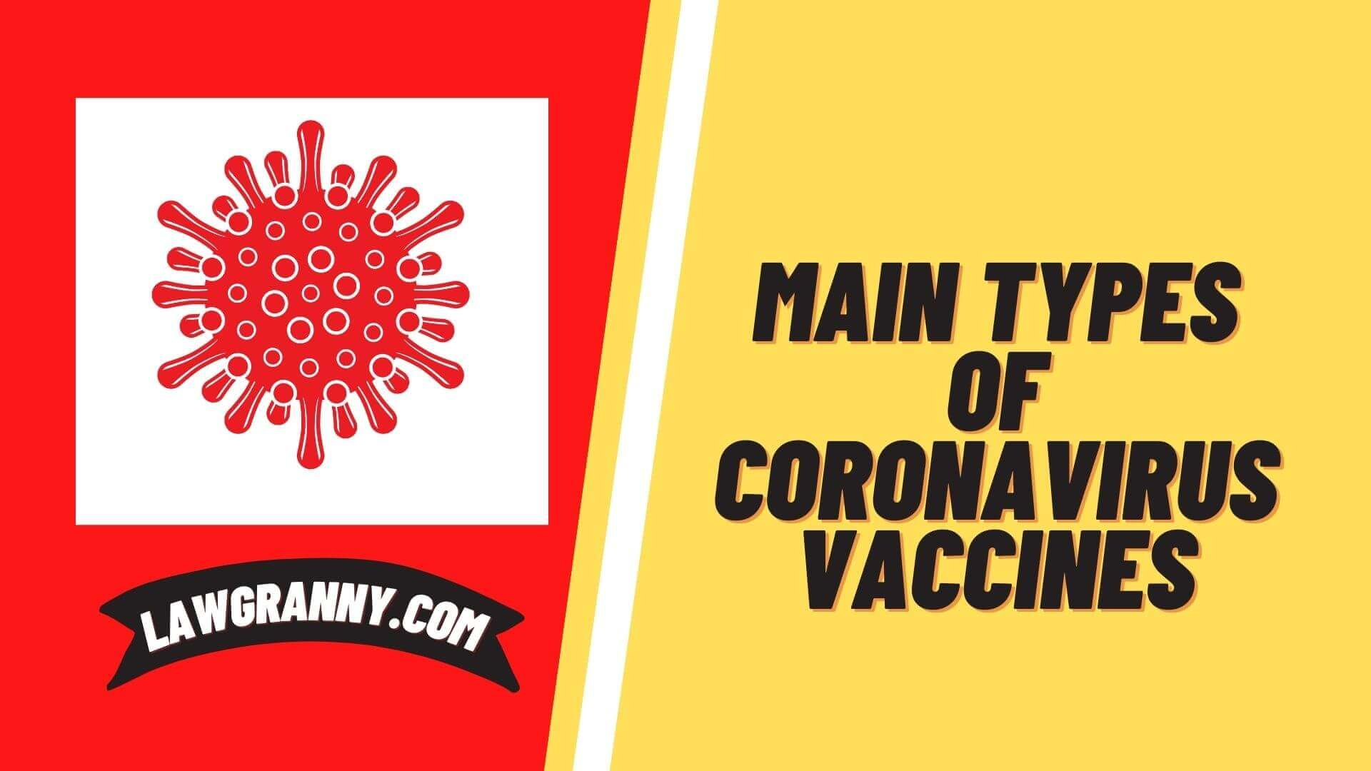 Main types of Covid vaccines